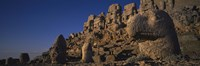 "Rocks on a cliff, Mount Nemrut, Nemrud Dagh, Cappadocia, Antolia, Turkey by Panoramic Images - 27"" x 9"""