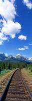 "Rail Road Tracks Banff National Park Alberta Canada by Panoramic Images - 9"" x 27"""