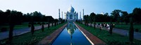 """Taj Mahal Agra India by Panoramic Images - 27"""" x 9"""""""