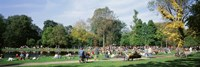 """People Relaxing In The Park, Vondel Park, Amsterdam, Netherlands by Panoramic Images - 27"""" x 9"""""""