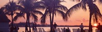"""Sunset on the beach, Miami Beach, Florida, USA by Panoramic Images - 27"""" x 9"""""""