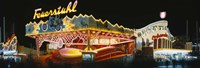 """Neon sign lit up at night, Oktoberfest, Munich, Bavaria, Germany by Panoramic Images - 27"""" x 9"""""""