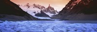 "Mountains covered in snow, Laguna Torre, Los Glaciares National Park, Patagonia, Argentina by Panoramic Images - 27"" x 9"""