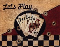 """Let's Play by Linda Spivey - 14"""" x 11"""", FulcrumGallery.com brand"""