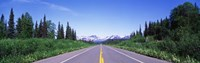"""George Parks Highway AK by Panoramic Images - 27"""" x 9"""", FulcrumGallery.com brand"""