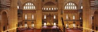 """Interiors of a mosque, Selimiye Mosque, Edirne, Turkey by Panoramic Images - 27"""" x 9"""", FulcrumGallery.com brand"""