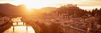 "Austria, Salzburg, Sunrise over Salzach River by Panoramic Images - 27"" x 9"" - $28.99"