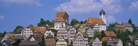 "Buildings on a hill, Altensteig, Black Forest, Germany by Panoramic Images - 27"" x 9"""