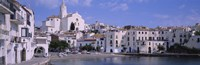 "Buildings On The Waterfront, Cadaques, Costa Brava, Spain by Panoramic Images - 27"" x 9"", FulcrumGallery.com brand"