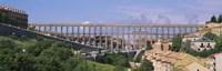 Road Under An Aqueduct Segovia Spain
