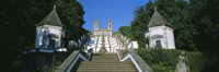 """Low angle view of a cathedral, Steps of the Five Senses, Bom Jesus Do Monte, Braga, Portugal by Panoramic Images - 27"""" x 9"""""""