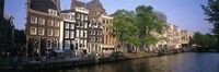 """Netherlands, Amsterdam, canal by Panoramic Images - 27"""" x 9"""", FulcrumGallery.com brand"""