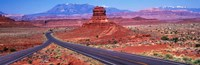 """Fork In Road, Red Rocks, Red Rock Country, Utah, USA by Panoramic Images - 27"""" x 9"""", FulcrumGallery.com brand"""