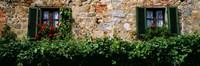 "Windows, Monteriggioni, Tuscany, Italy by Panoramic Images - 27"" x 9"" - $28.99"