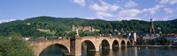 "Arch bridge across a river, Neckar River, Heidelberg, Baden-Wurttemberg, Germany by Panoramic Images - 27"" x 9"""