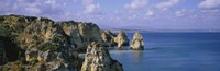 """Rock formations on the beach, Algarve, Portugal by Panoramic Images - 27"""" x 9"""""""