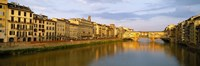 """Ponte Vecchio, Arno River, Florence, Tuscany, Italy by Panoramic Images - 27"""" x 9"""""""