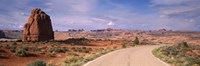 "Road Courthouse Towers Arches National Park Moab UT USA by Panoramic Images - 27"" x 9"""