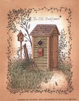 Old Backhouse Fine Art Print