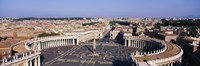 """High angle view of a town, St. Peter's Square, Vatican City, Rome, Italy by Panoramic Images - 27"""" x 9"""""""