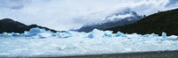 """Glacier on a mountain range, Grey Glacier, Torres Del Paine National Park, Patagonia, Chile by Panoramic Images - 27"""" x 9"""", FulcrumGallery.com brand"""