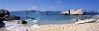 "Tourists enjoying on the beach, The Baths, Virgin Gorda, British Virgin Islands by Panoramic Images - 27"" x 9"", FulcrumGallery.com brand"