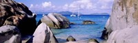 """Boulders on a coast, The Baths, Virgin Gorda, British Virgin Islands by Panoramic Images - 27"""" x 9"""""""