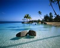 "Resort Tahiti French Polynesia by Panoramic Images - 14"" x 12"""
