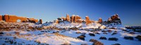 """Rock formations on a landscape, Arches National Park, Utah, USA by Panoramic Images - 27"""" x 9"""" - $28.99"""