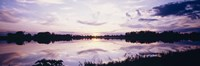 """Reflection of clouds in a lake, Illinois, USA by Panoramic Images - 27"""" x 9"""""""
