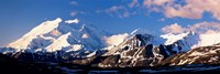 Mountain covered with snow, Alaska Range, Denali National Park, Alaska, USA Fine Art Print