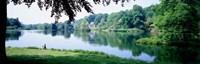 "Stourhead Garden Lake and pavillion, England, United Kingdom by Panoramic Images - 27"" x 9"""
