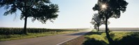 "Road passing through fields, Illinois Route 64, Illinois, USA by Panoramic Images - 27"" x 9"", FulcrumGallery.com brand"