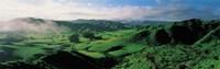 """Farmland Taranaki New Zealand by Panoramic Images - 27"""" x 9"""""""