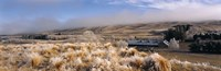 """Barn in a field, Morven Hills Station, Otago, New Zealand by Panoramic Images - 27"""" x 9"""", FulcrumGallery.com brand"""