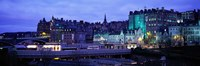 """The Old Town Edinburgh Scotland by Panoramic Images - 27"""" x 9"""""""