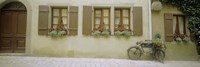 """Bicycle outside a house, Rothenburg Ob Der Tauber, Bavaria, Germany by Panoramic Images - 27"""" x 9"""""""
