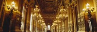"""Interiors of a palace, Paris, Ile-De-France, France by Panoramic Images - 27"""" x 9"""""""