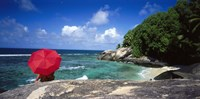 "Indian Ocean Moyenne Island Seychelles by Panoramic Images - 27"" x 9"""