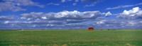 Field And Barn Saskatchewan Canada