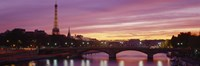 """Bridge with the Eiffel Tower in the background, Pont Alexandre III, Seine River, Paris, Ile-de-France, France by Panoramic Images - 27"""" x 9"""", FulcrumGallery.com brand"""