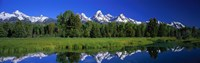 "Teton Range Grand Teton National Park WY USA by Panoramic Images - 27"" x 9"""