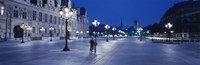 "Hotel de Ville & Notre Dame Cathedral Paris France by Panoramic Images - 27"" x 9"""