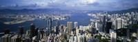 Hong Kong with Cloudy Sky China