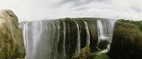 "Water falling into a river, Victoria Falls, Zimbabwe, Africa by Panoramic Images - 27"" x 9"""