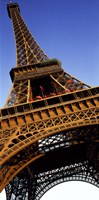 """Low angle view of a tower, Eiffel Tower, Paris, Ile-de-France, France by Panoramic Images - 9"""" x 27"""""""