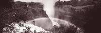 "Victoria Falls Zimbabwe Africa (black and white) by Panoramic Images - 27"" x 9"""