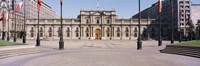 Facade of a palace, Plaza De La Moneda, Santiago, Chile Fine Art Print