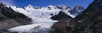 """Glacier on a mountain range, Argentine Glaciers National Park, Patagonia, Argentina by Panoramic Images - 27"""" x 9"""", FulcrumGallery.com brand"""