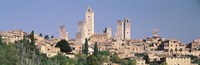 "Italy, Tuscany, Towers of San Gimignano, Medieval town by Panoramic Images - 27"" x 9"", FulcrumGallery.com brand"